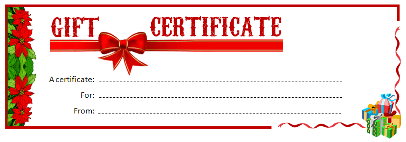 Printable Gift Certificate MS Word Template Office Templates Online