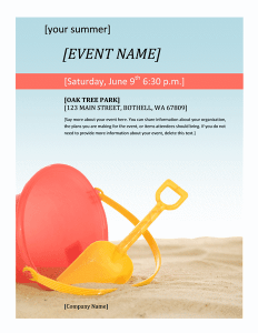 General Upcoming Company Events flyer template