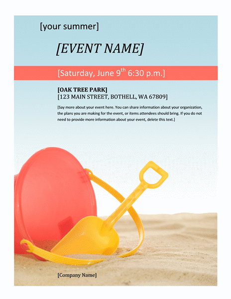 free event flyer templates - general one page upcoming company event flyer template