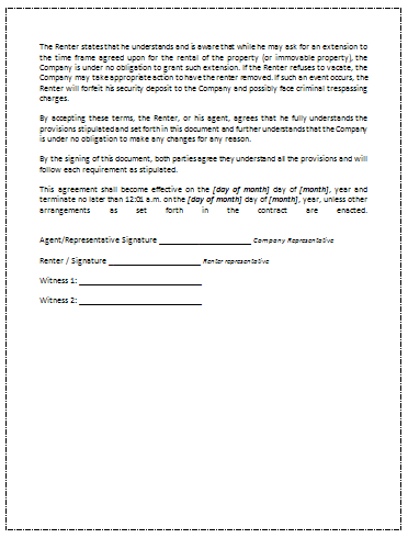 ... Rental Agreement Template Page 3