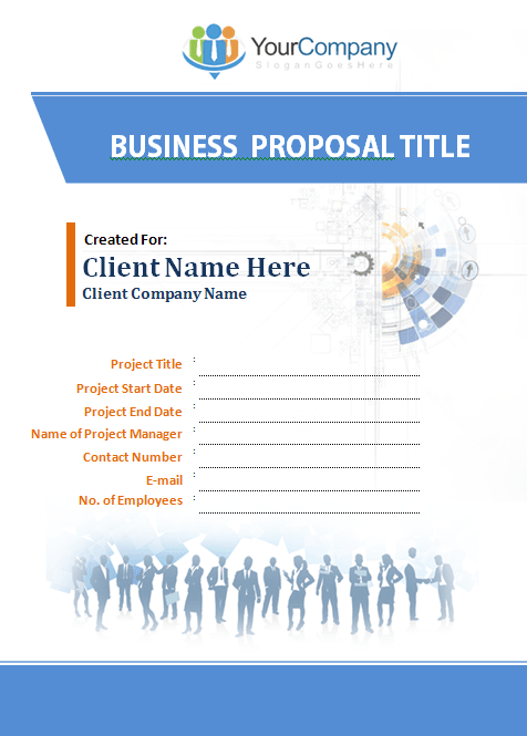 Business Proposal Template Ms Word  Company Proposal Template