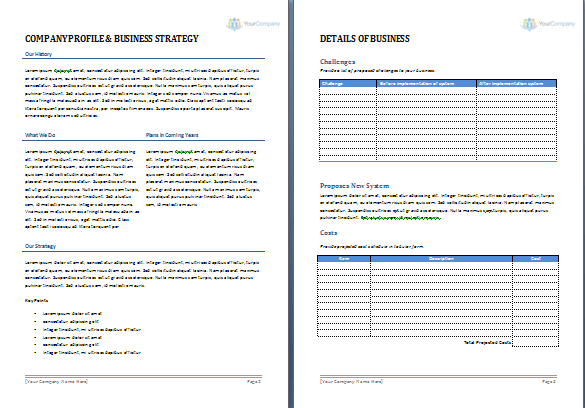Business Proposal Template – Proposal Template Microsoft Word