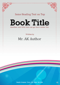 MS Word Booklet Template ...  Booklet Template Word