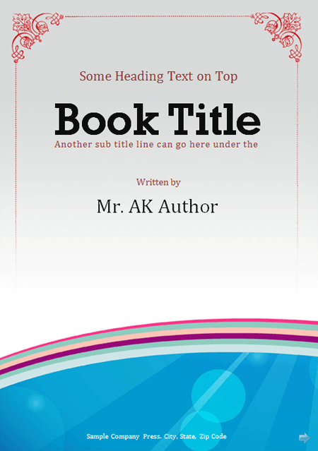 Best Book Cover Page ~ Booklet template office templates online