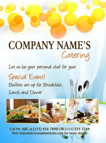 MS Word Catering Flyer Template | Office Templates Online