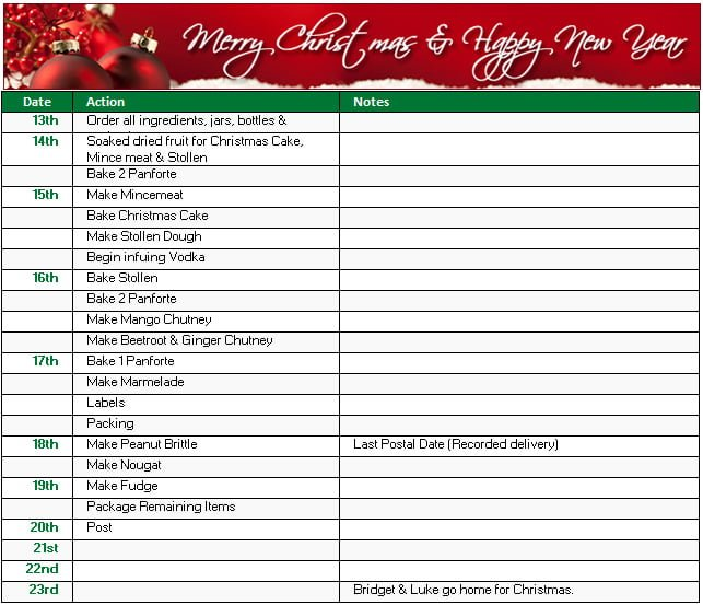 Christmas Shopping Gift And To Do List Templates In Ms Excel