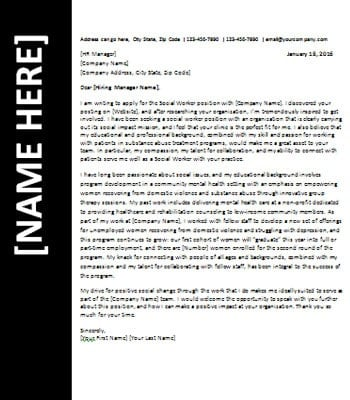 Social Worker Resume Cover Letter. Dental Assistant Cover Letter