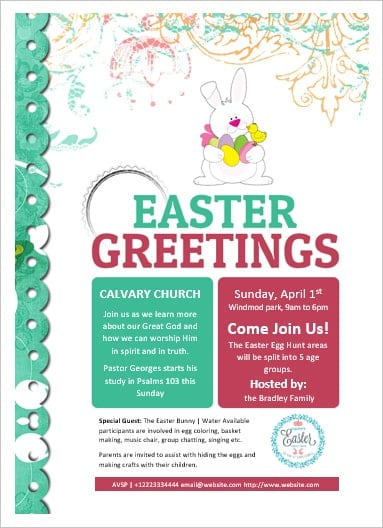 Ms Word Easter Flyer  Office Templates Online