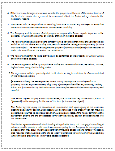 ... Rental Agreement Template Page 2 ...