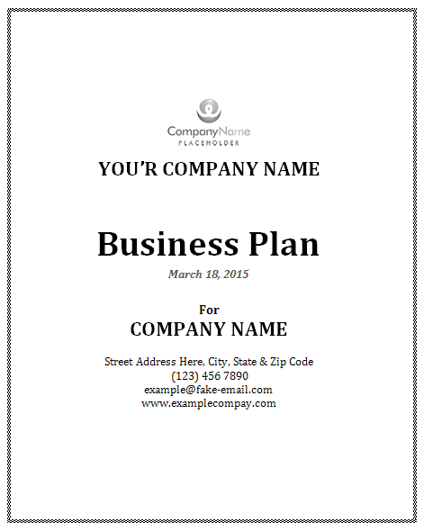Sample Business Plan Template – Business Plan Format