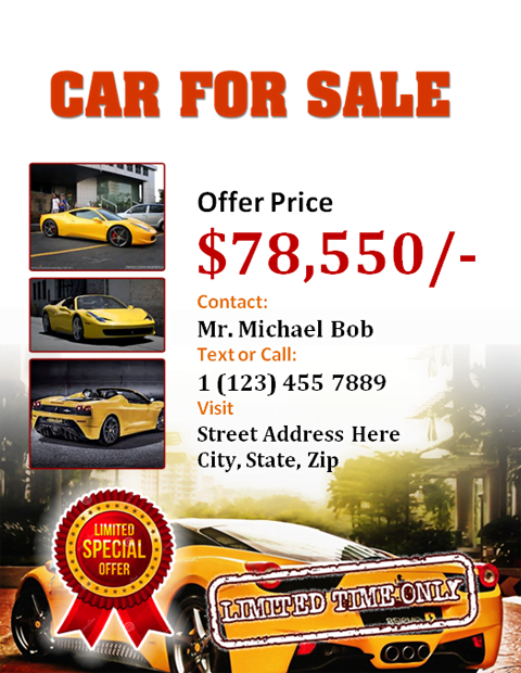 sales brochure template word - car for sale flyer office templates online