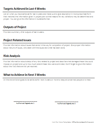 Word Document Report Template from officetemplatesonline.com