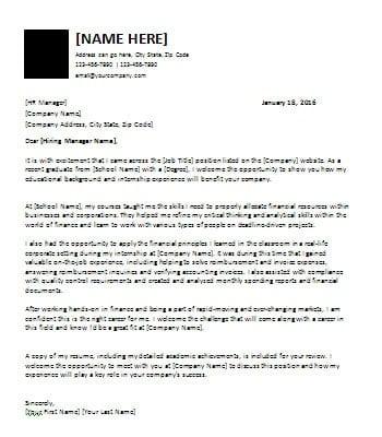 recent-graduate-cover-letter Template Cover Letter Graduate Finance Umdilc on