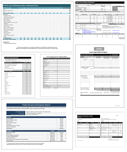 12 Business and Personal Expense Report Templates