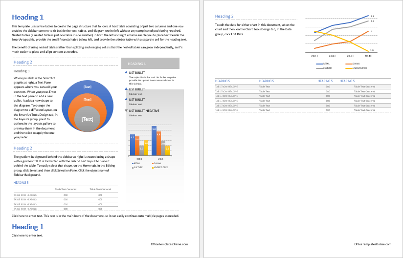 ms word business report template
