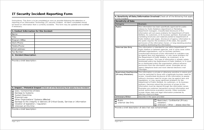 information security incident report template for your needs