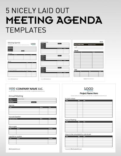 MS Word Meeting Agenda Templates