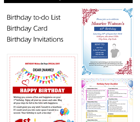 Colorful Birthday Templates