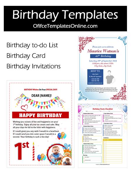 Colorful Birthday Templates