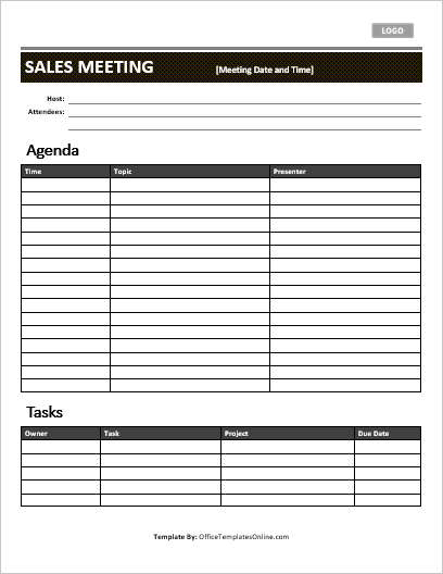 5 Professional Meeting Agenda Templates Office Templates Online