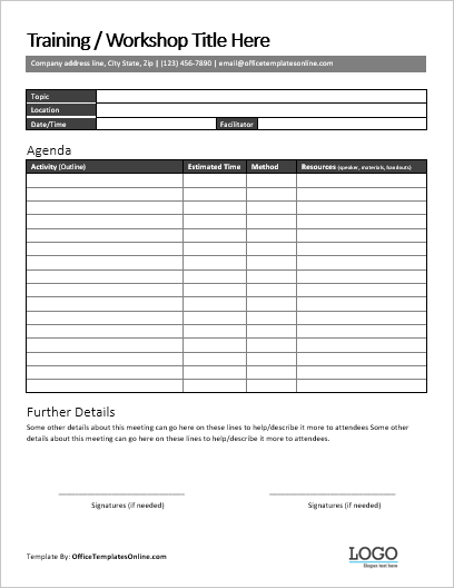 Training Checklist Template Word from officetemplatesonline.com