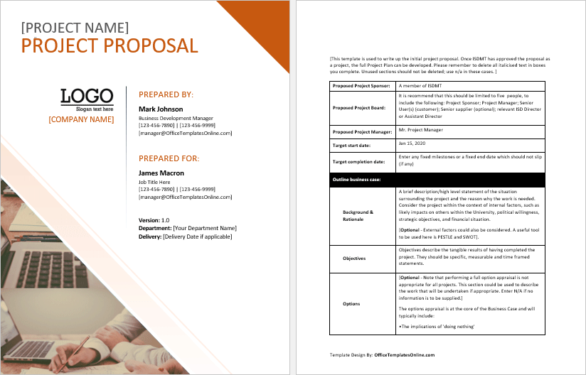 Free Proposal Template from officetemplatesonline.com