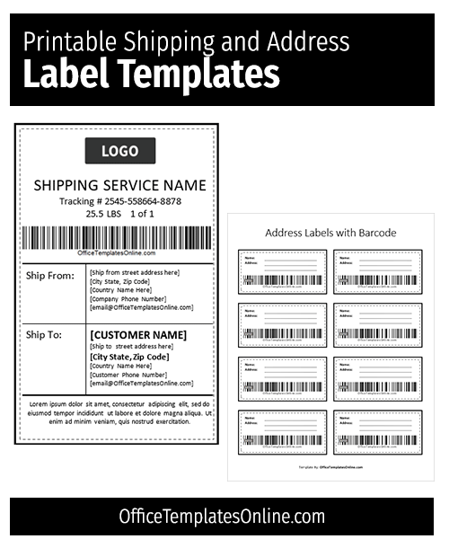 Word Shipping Label Template from officetemplatesonline.com