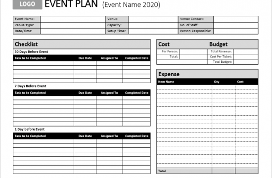 company-event-planning-template