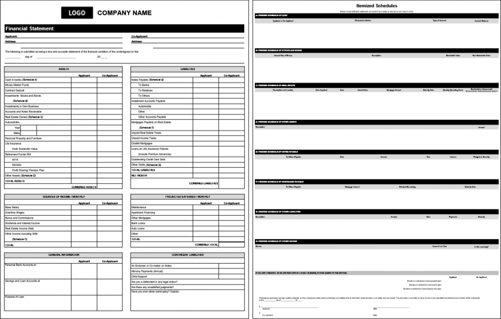 financial-statement-template-with-itemized-schedules-in-ms-excel