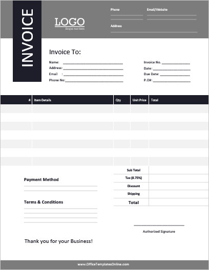 21 Free Modern Invoice Templates Formats For Ms Word