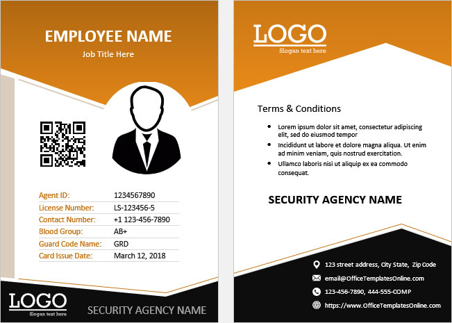 Print Ready Id Card Templates For Ms Word Office Templates Online