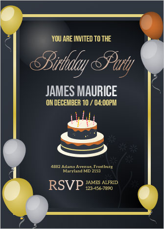 6+ invitation Cards for Birthday in MS Word For All Age Groups