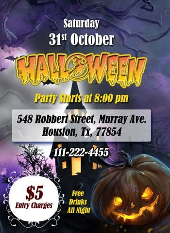 Halloween Flyer created in MS Word