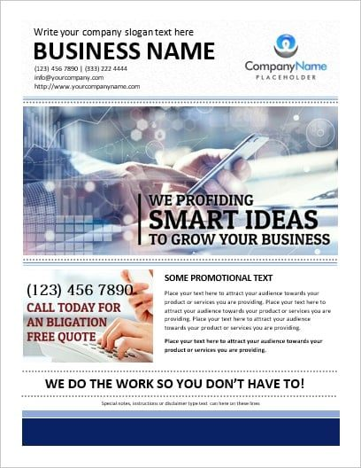 MS Word Business Flyer Template – Office Templates Online