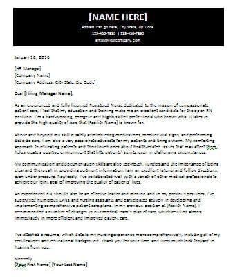 Cover Letter for Certified Nurse Job