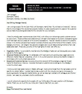 Returning to Workforce Cover Letter