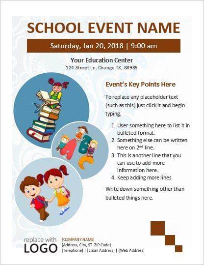 Download School Event Flyer Template